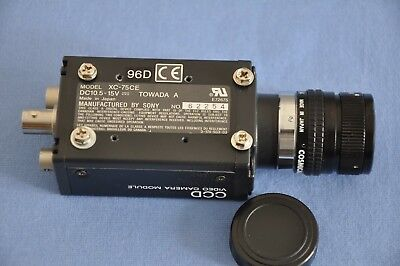 Sony CCD Video Camera Module XC-75CE, Objektiv Cosmicar/Pentax  Lens 16mm f/1,4