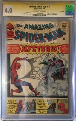 Amazing Spider-man (1963) #  13 CGC 4.0 SIGNED STAN LEE 1st APP MYSTERIO