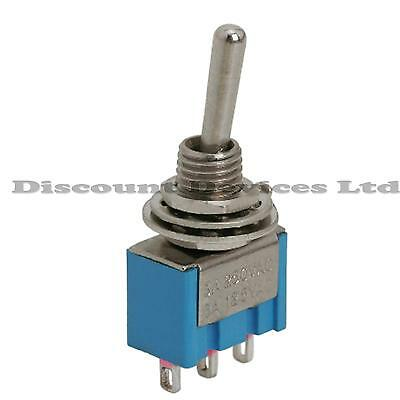 SPDT Miniature Toggle Switch on-on 1 Circuit 3A 250V -Dashboard/Car/Van/Boat