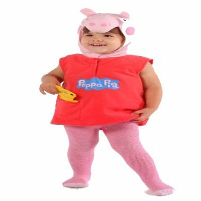 Vmc  Peppa Pig Fancy Dress Costume 2/4 Years Plush Book Week Pink Tv Film