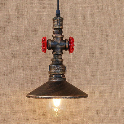 Vintage Industrial Retro Metal Hanging Ceiling Pendant Light Shade Chandelier HC