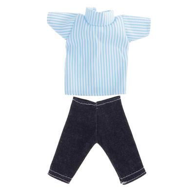 Doll Clothes Casual Clothing Suit Costume for Barbie Ken Striped Shirt Pants