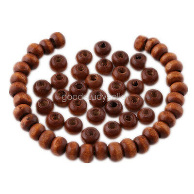500 pcs Flat Wood loose Beads spacer beads charms Necklace findings 6x4mm
