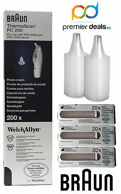 100 pc Genueni Hillrom Ear Probe Replacement Covers for braun ThermoScan