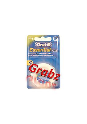 Oral B Essential Waxed Floss Dental  Mint 50 m