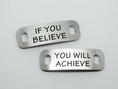 Quality Trainer Tags - Stainless steel - Free Engraving - Free delivery