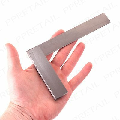 "6"" RIGHT ANGLE ENGINEER'S SQUARE Heavy Duty Hardened Steel Precision Measuring"