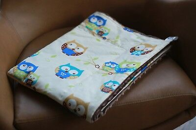 Beige Owls Weighted Therapy Blanket- CE Certified, all sizes and colours