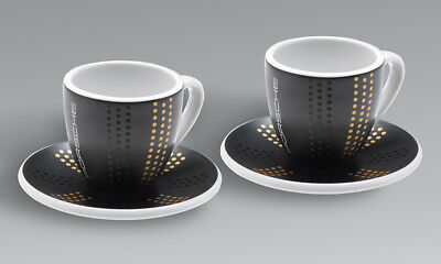 Genuine Porsche Espresso Cups, Set of two – Limited Edition – 911 Collection