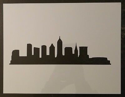 "City of Cleveland Skyline Downtown 11"" x 8.5"" Custom Stencil FAST FREE SHIPPING"