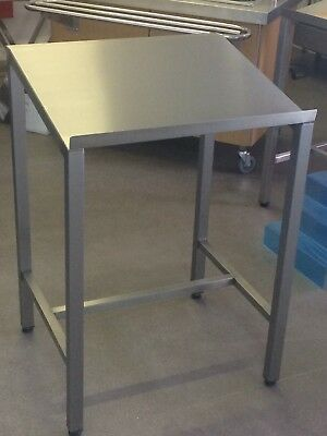 Displaypro Stainless Steel Lectern Desk Table Food Production Worktop 304 Grade