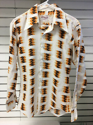 New Breed By Campus VTG Men's Disco Shirt. Medium, Tapered. FREE Ship!