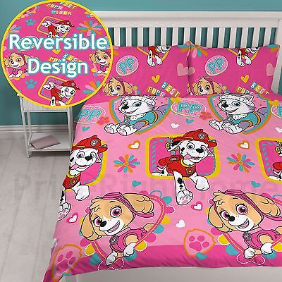 Paw Patrol Forever Double Duvet Cover Set Chlidrens Girls Bedding Reversible
