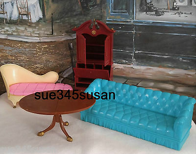 Vintage Louis Marx & Co. Inc. Dollhouse Furniture Lot of 4 pieces 1960s