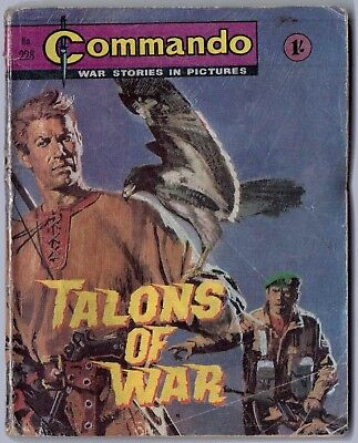 """Dated 1966. Vintage COMMANDO War Picture Comic # 228. """"Talons of War"""""""