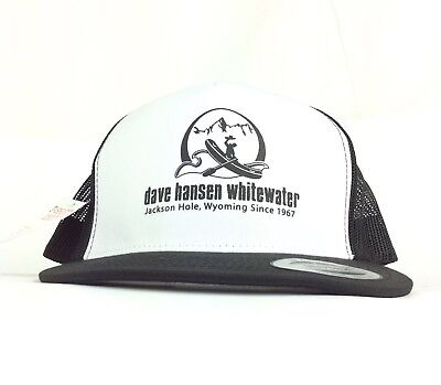 NWT Dave Hansen Whitewater Jackson Hole Wyoming Trucker Hat Cap Snapback Adult