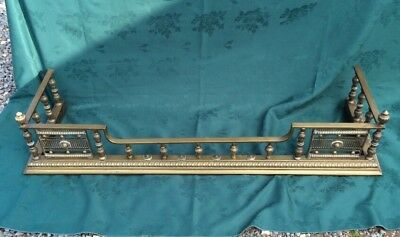 rare find antique Solid Brass victorian fire Place grate Fender