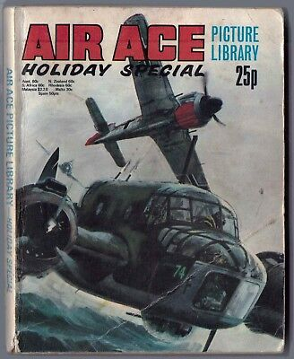 "1975. ""AIR ACE"" Picture Library HOLIDAY SPECIAL War comic. 4 stories. 192 pages."
