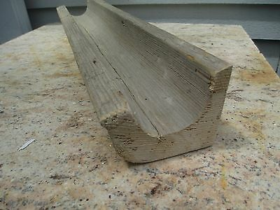 "Vintage Section of Wood Gutter - 24"" Long - Nice Accent for Harvest Table"