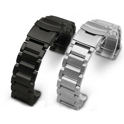 Heavy Thick Solid Bracelet Buckle Wristwatch Watch Band Strap 18/20/22/24