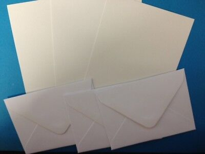 25 WHITE 10.5cm x 7.5cm A7 CARD BLANKS WITH ENVELOPES CARD MAKING CRAFT SUPPLIES
