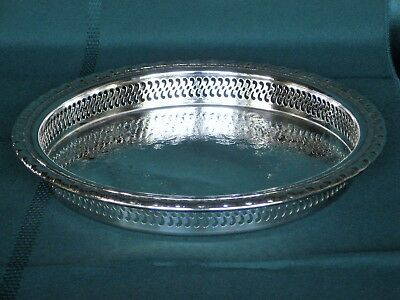 Serving Tray Silverplate Round Rogers & Bro 1770G