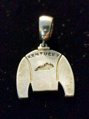 Sterling Silver Kentucky Jockey Silk Pendent