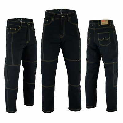 Motorbike Motorcycle Denim Trousers Jeans Pant With Armour  size 30 to 44