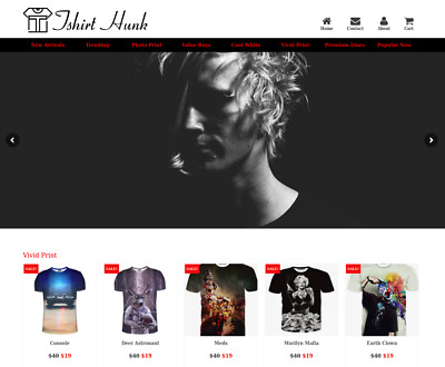 T Shirt Turnkey Ready Made Website For Sale $5K / mon Potential - Dropshiping