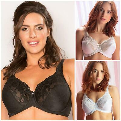 Pour Moi? Jacquard Underwired Full Coverage Bra 3818 New Lace Lingerie