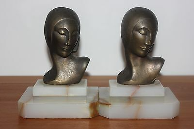 Two Art Deco bookends.