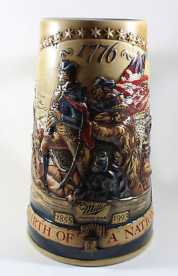 Miller Genuine Draft Collectors BIRTH OF A NATION 1776 Beer Stein 3rd In Series