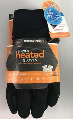 NEW Therma Gear 8 Hour Heated Gloves With 2 Heat Packs Included