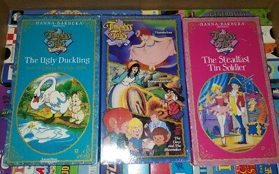 Lot 3 Timeless Tales Hanna Barbera VHS tapes ugly duckling thumbelina steadfast