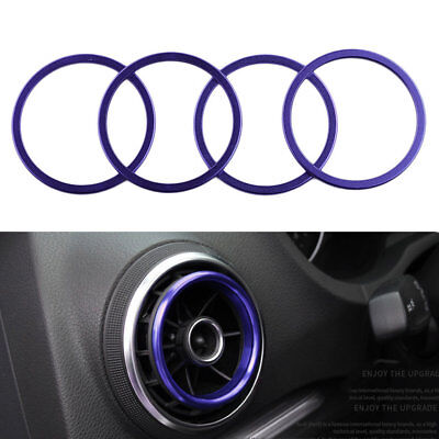 4pcs/set Car Key Switch Decoration Ring Interior Styling Suitable For Audi A3 PM