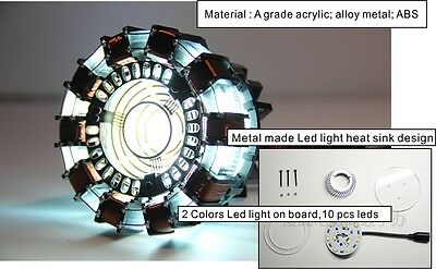 New  DIY MASTER GRADE IRON MAN MK1 ARC REACTOR USB POWERED