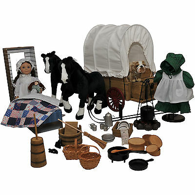 """50 PC Little House 18"""" Laura Ingalls Doll +Clothes,Furniture, Accessory, Clothes"""