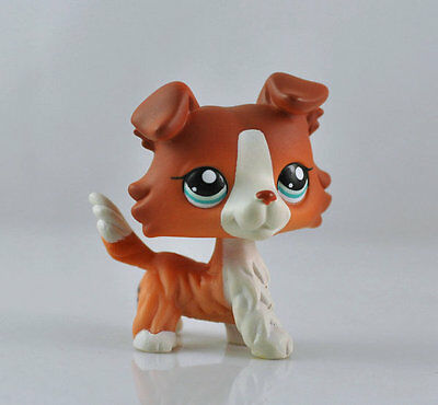 Pet Collie Dog Child Girl Figure Cute Littlest Toy Loose LPS842