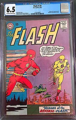 FLASH 139 (DC, 1963) - 1st PROFESSOR ZOOM - CGC 6.5 - OFF WHITE TO WHITE PAGES