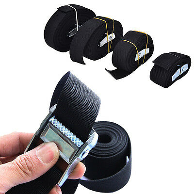 Nylon Pack Cam Tie Down Strap Lash Luggage Bag Belt Metal Buckle Pop UK