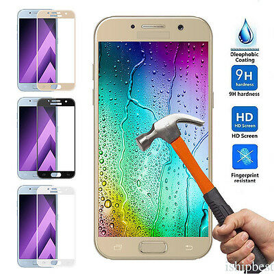 For Samsung Galaxy J7 J5 J3 2016/2017 Full Cover Tempered Glass Screen Protector