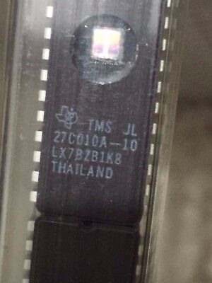 TMS 27C010A -10 JL 27C010 EPROM 32 PIN (128K x 8) Texas Instruments