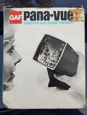 Vintage GAF Pana-Vue 1 Lighted Slide Viewer & Original Box