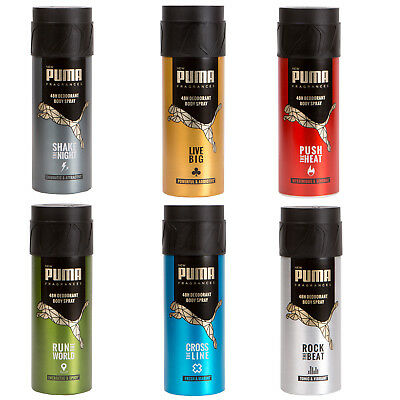 PUMA Bodyspray / Deo Rock - Run - Shake - Push - Live - Cross alle Sorten