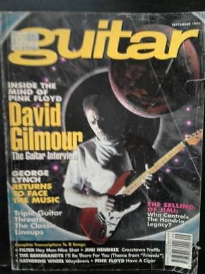 Guitar Magazine September 1995 David Gilmour on the cover