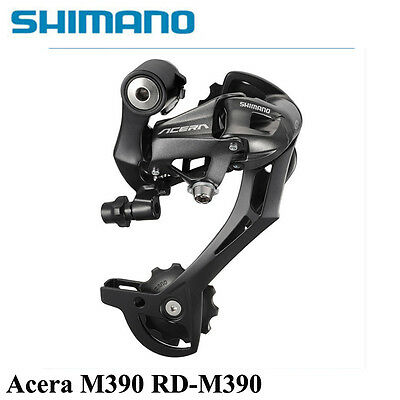 UK Shimano rear derailleur 7 8 9 speed Acera Black M390 SGS SAFETY MTB