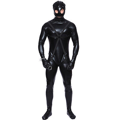 Adult Mens Gimp Outfit Fancy Dress Halloween Costume Stag Night Party
