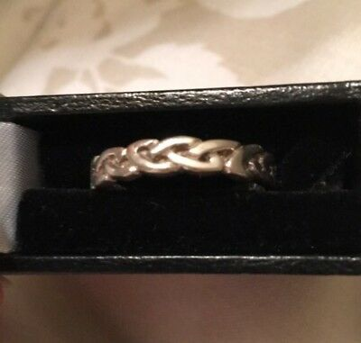 Sterling Silver Celtic Woven Ring Size Q