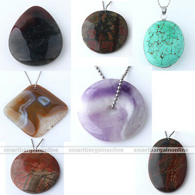 1X Natural Vintage Picasso Gemstone Healing Crystal Agate Amethyst Pendant Gift