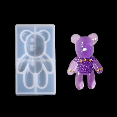 Bear Shape Transparent Silicone Pendant Mould Resin Jewelry Making Fondant Tool